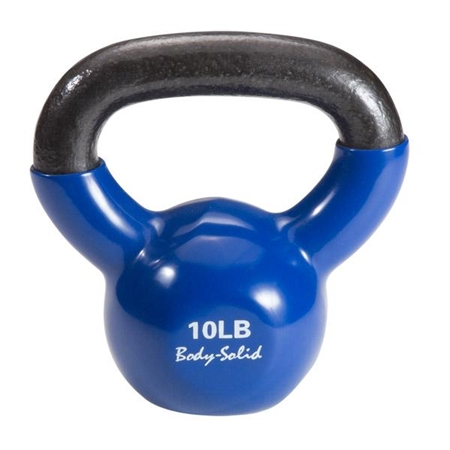 Body Solid® Vinyl Coated Colored Kettlebells  10lb.