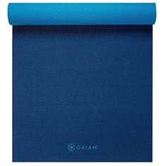 Gaiam Midnight Blues - Premium 2 color 5mm Yoga Mat