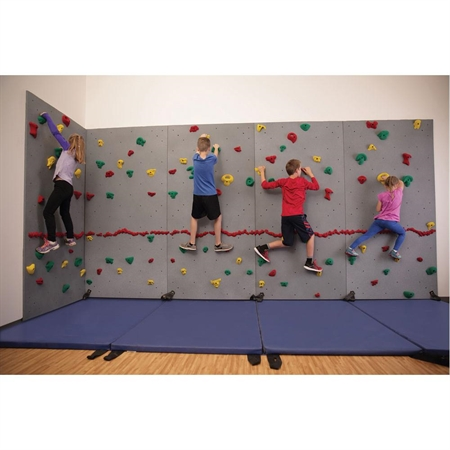 Everlast River Rock® Traverse Wall® - 8' x 4' Wall Climbing Package with Cordless Mat-Locking System®