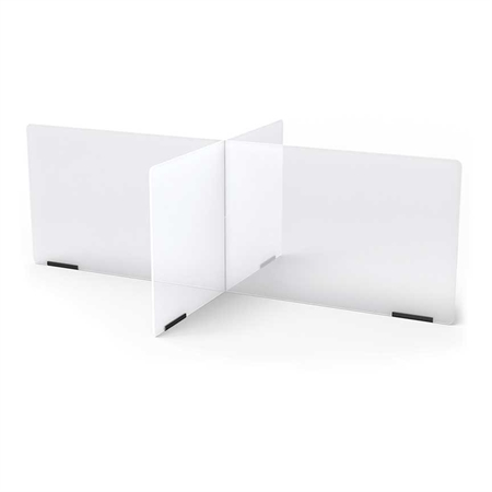 "Acrylic Table Divider - 4 stations 48"" x 30"""