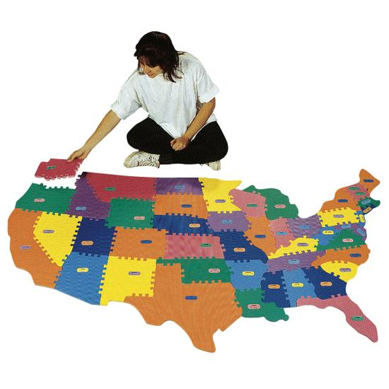 Giant Foam Puzzle Map FlagHouse - Giant us map