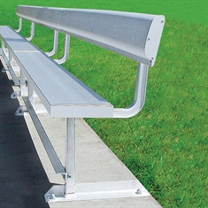 Player Benches - Portable  with Back - 21'L