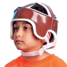 Soft - Crown Leather Helmets - Large